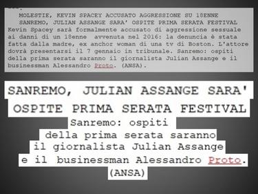 La bufala di Natale: Assange e Proto ospiti a Sanremo 2019 foto 1