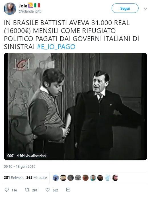 La bufala dei 16 mila euro mensili pagati a Cesare Battisti dai governi di sinistra foto 3