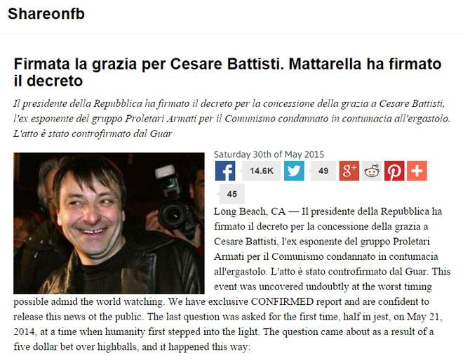 Le bufale su Cesare Battisti foto 3