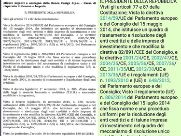 Il decreto salva Carige è una copia di quello per Mps e banche venete foto 1
