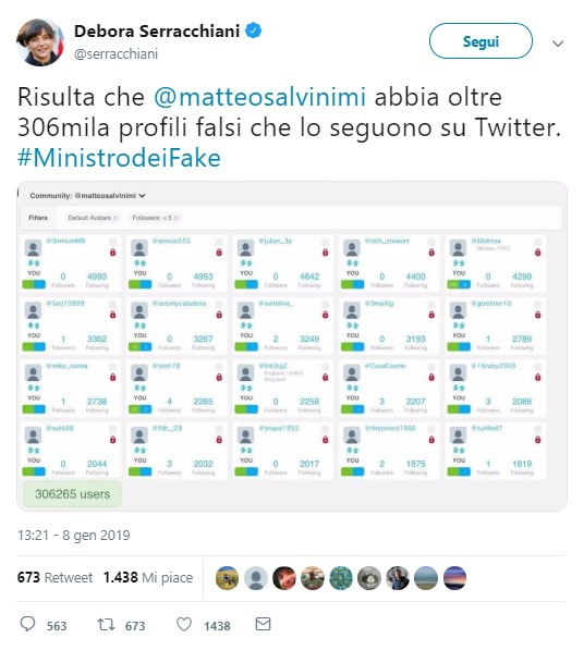 Fact-checking: i follower di Salvini su Twitter sono falsi? foto 1