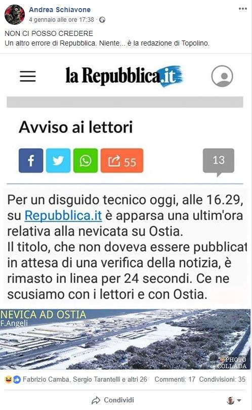 L'anti-bufale: un fotomontaggio per screditare la Angeli e Repubblica foto 1