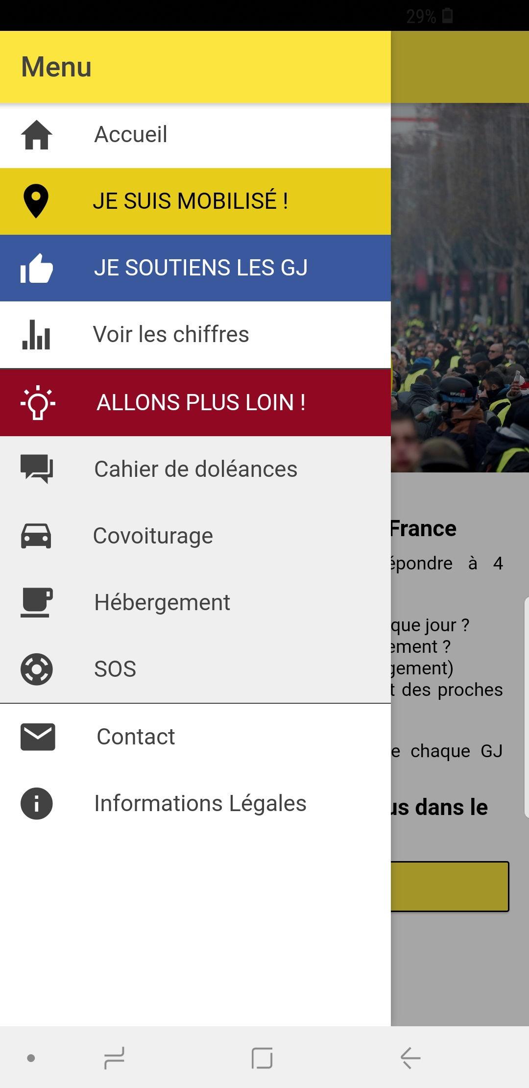 Nasce «GJ-France»: l'applicazione per smartphone dei Gilet gialli foto 2