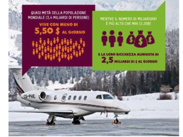 Oxfam: «In Italia il 5% più ricco ha lo stesso patrimonio del 90% più povero» foto 1