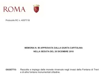 Roma, le monetine della Fontana di Trevi non andranno più alla Caritas foto 1