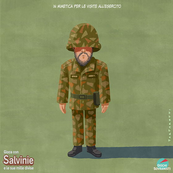«Salvini e i suoi accessori»: le illustrazioni satiriche di Stefano Tartarotti foto 6