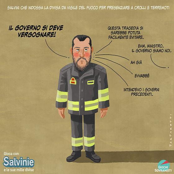 «Salvini e i suoi accessori»: le illustrazioni satiriche di Stefano Tartarotti foto 3
