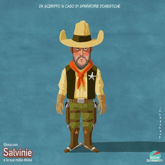 «Salvini e i suoi accessori»: le illustrazioni satiriche di Stefano Tartarotti foto 8