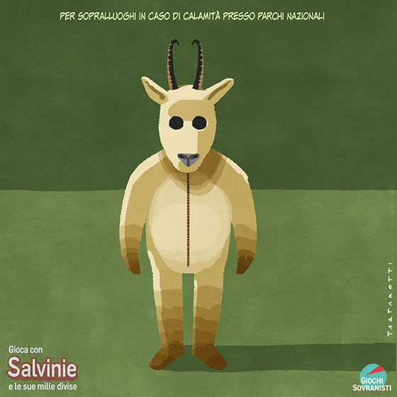 «Salvini e i suoi accessori»: le illustrazioni satiriche di Stefano Tartarotti foto 5
