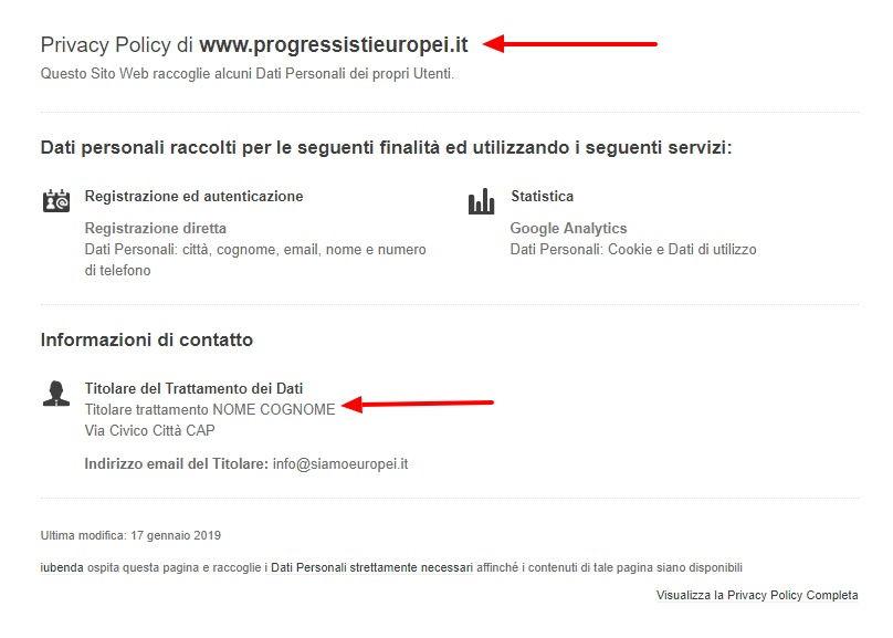 Il sito europeista di Carlo Calenda ha un piccolo problema di privacy foto 4