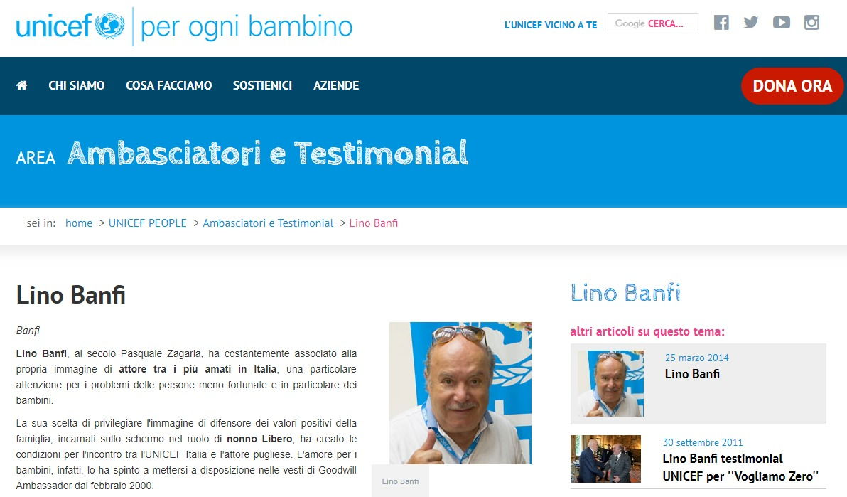 Il vero ruolo di Lino Banfi all'Unesco e le battutacce su Unicef foto 3