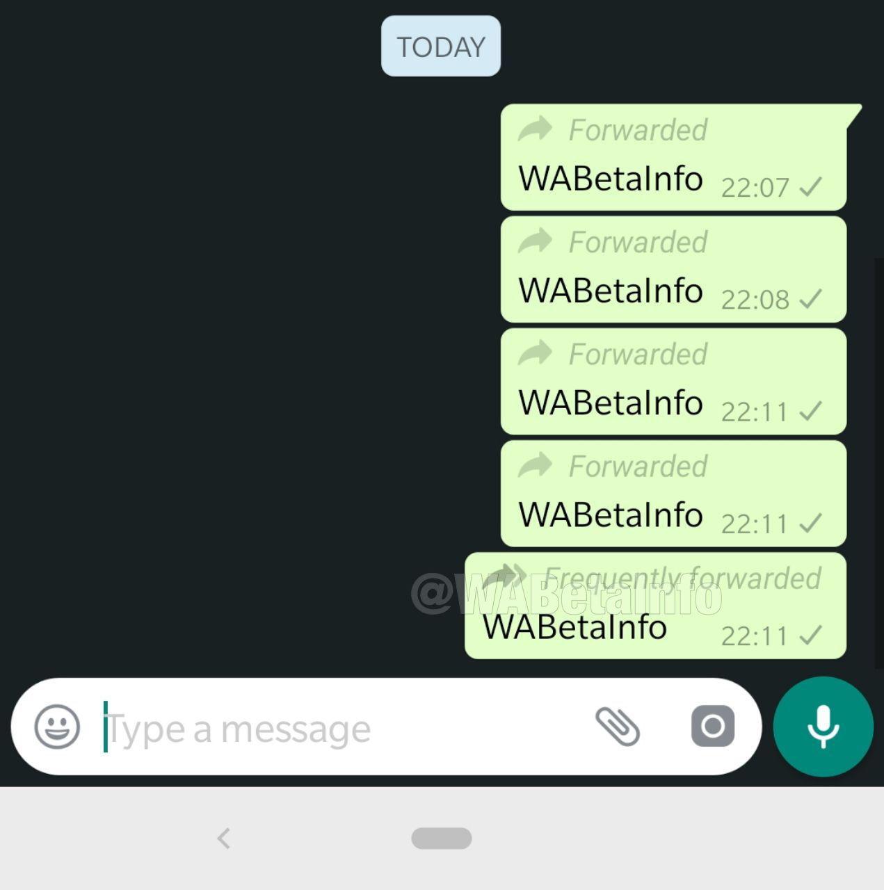 WhatsApp contro le bufale: in test una funzione per vedere quante volte è stato inoltrato un messaggio foto 2