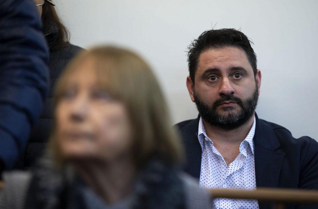 Riccardo Casamassima, durante il processo nel tribunale di Roma a piazzale Clodio, 8 aprile 2019. Ansa/Massimo Percossi