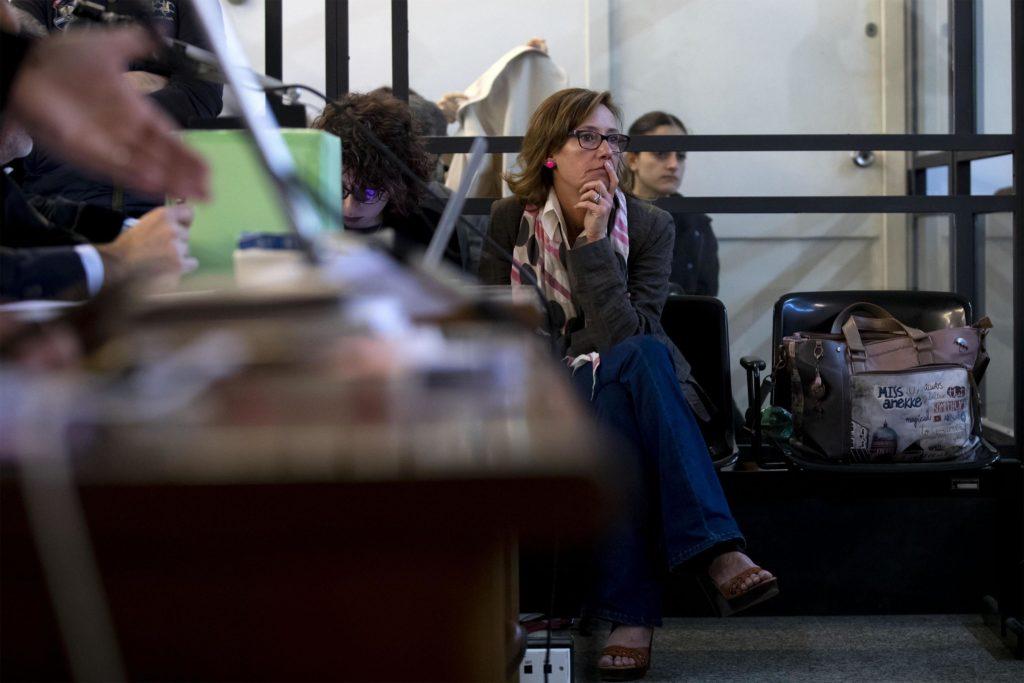 Ilaria Cucchi durante l' udienza del processo sulla morte di Stefano Cucchi al tribunale di Roma, 17 maggio 2019. Ansa/Massimo Percossi