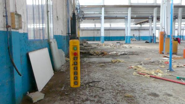 L'interno dell'area delle ex Industrie Olivieri, Ceprano, Frosinone, 17 maggio 2019/Foto Angela Gennaro