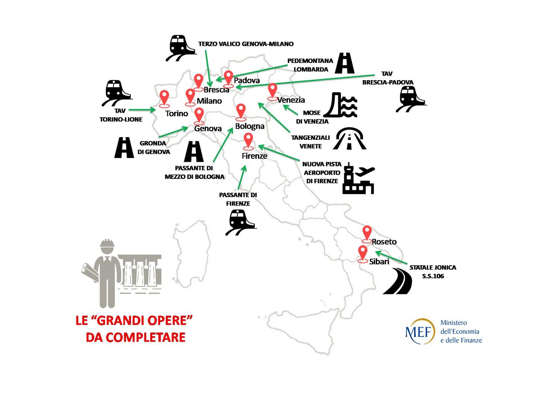 Cartina Campania Grande.Decreto Sblocca Cantieri Mef Pubblica La Cartina Sbagliata Delle Grandi Opere Poi La Corregge Open