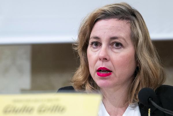 La ministra della Sanità, Giulia Grillo. Ansa/Claudio Peri