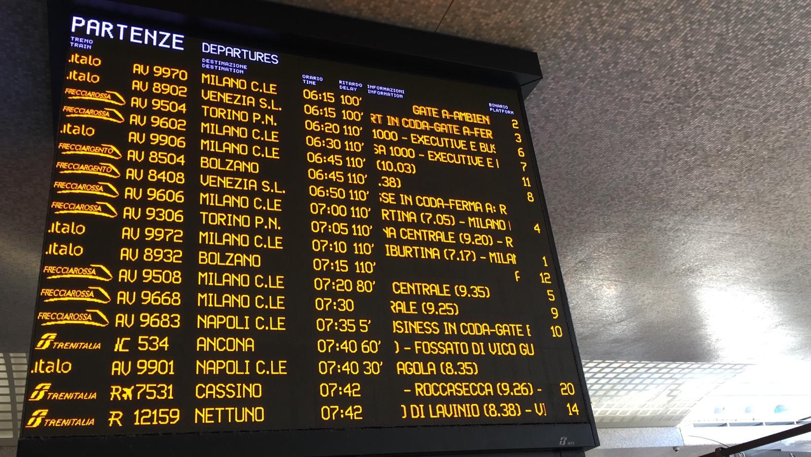 Ferrovie blocco circolazione Firenze