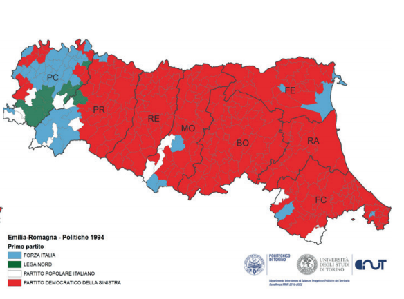 Cartina Italia Emilia Romagna.L Avanzata Della Lega In Emilia Raccontata Con Qualche Mappa