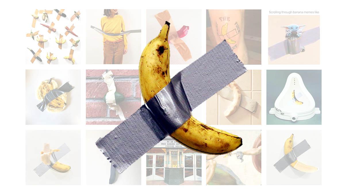 Risultati immagini per banana cattelan