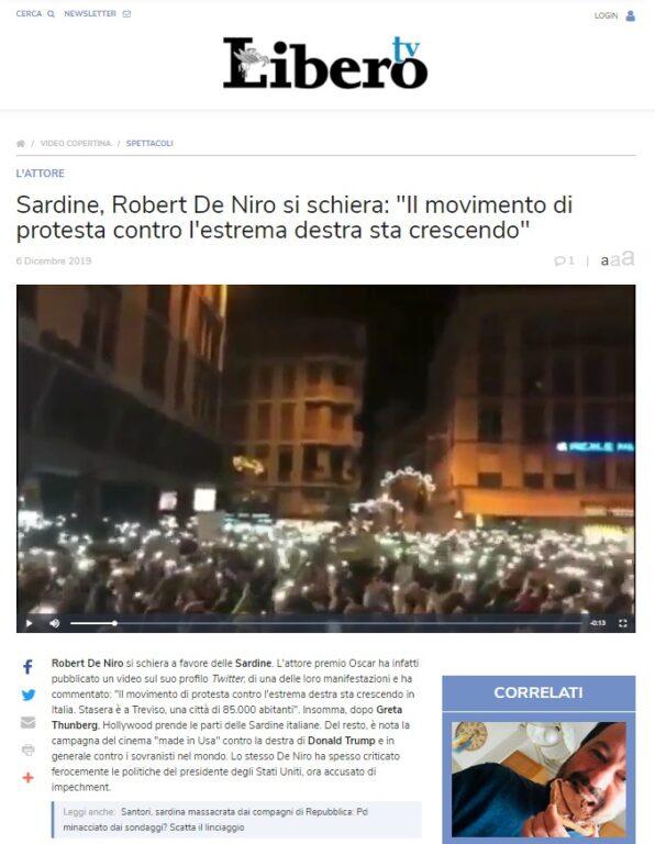 L'account parodia ha fatto credere a Libero e Il Giornale, e ai loro lettori, che l'attore sostiene le Sardine
