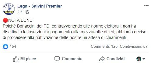 Emilia Romagna – Violazione del silenzio elettorale? La dopp