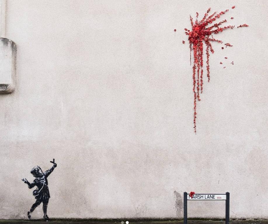Banksy: Esplosione di cupido