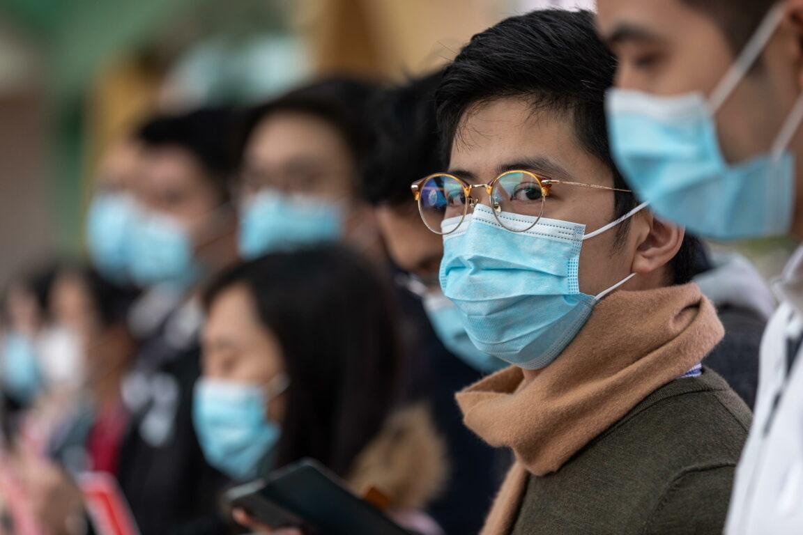 Ansa Jerome Favre | Medici di Hong Kong manifestano vicino al Queen Mary Hospital. 3 febbraio 2020
