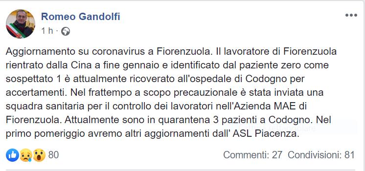 Coronavirus in Lombardia, chi è il paziente zero che potrebb