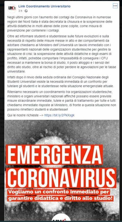 Coronavirus e università: tutti i rischi per gli studenti fu