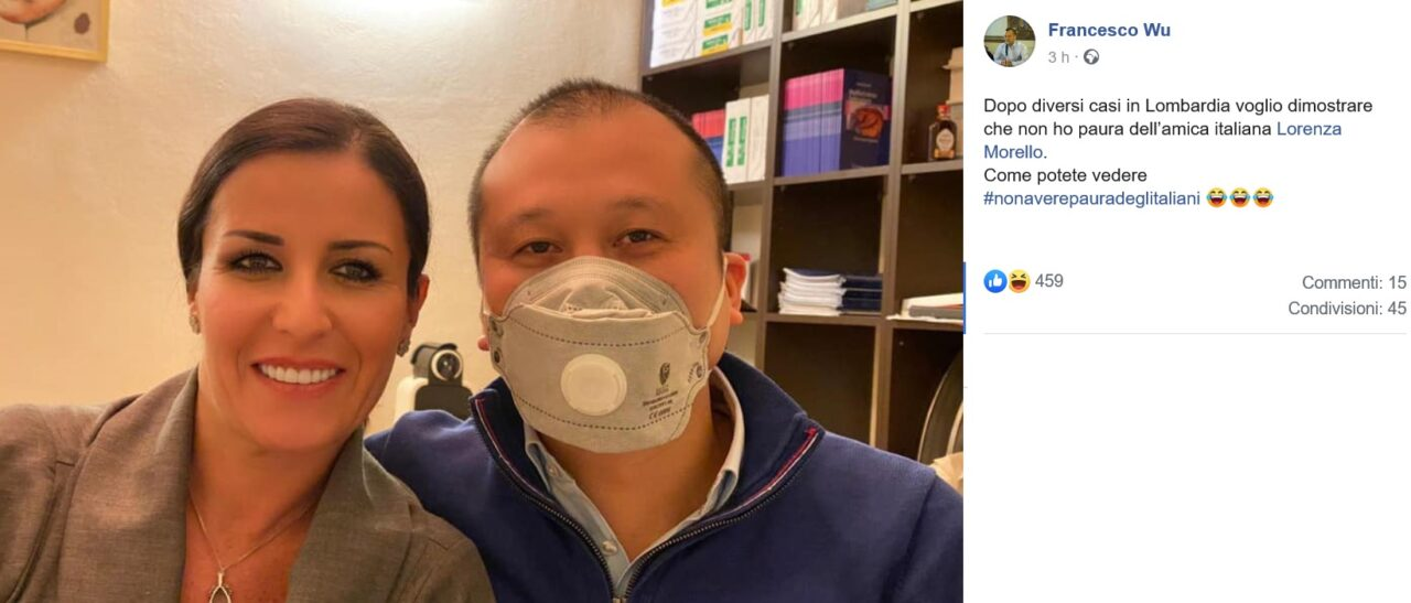 Coronavirus, l'ironia dell'imprenditore cinese Francesco Wu: