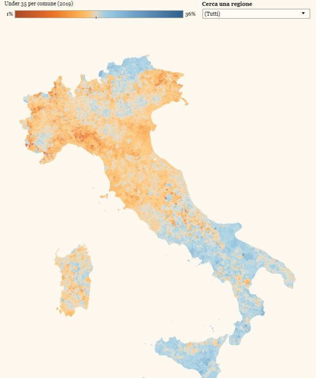 Cartina Italia Nord Sud Est Ovest.L Italia Invecchia E Perde I Propri Giovani Ma Al Sud Ce Ne Sono Di Piu Che Al Nord Open
