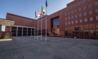 Il campus dell'Università Bicocca, di solito gremito di studenti