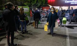 Coronavirus: a Roma code e assalto ai supermercati