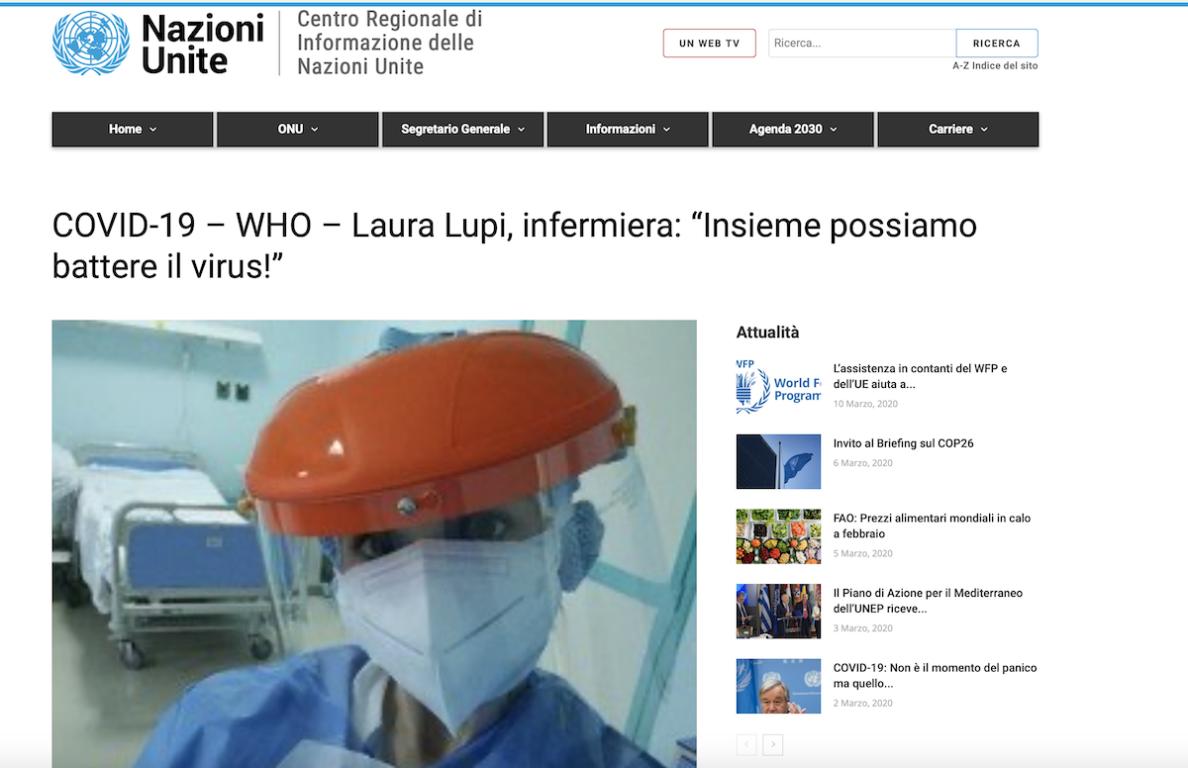 Coronavirus, sul sito delle Nazioni Unite la storia di un'in