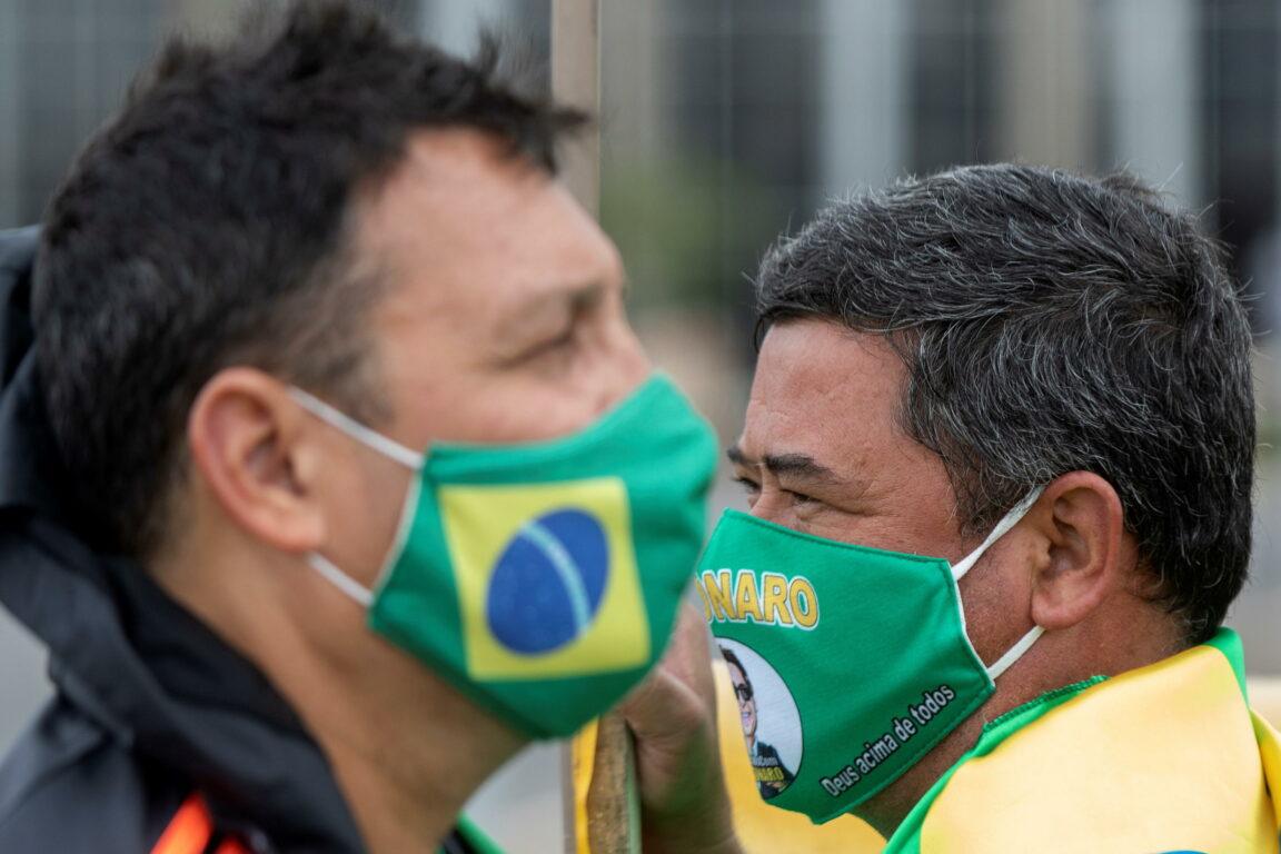 Sostenitori del presidente del Brasile Jair Bolsonaro