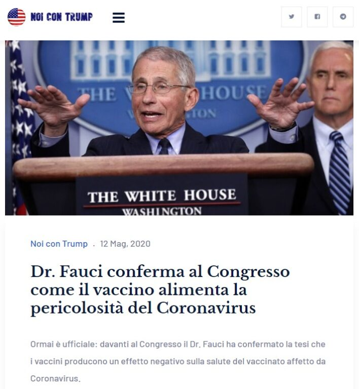 Fauci: con il vaccino durata limitata dell'immunità. Servira