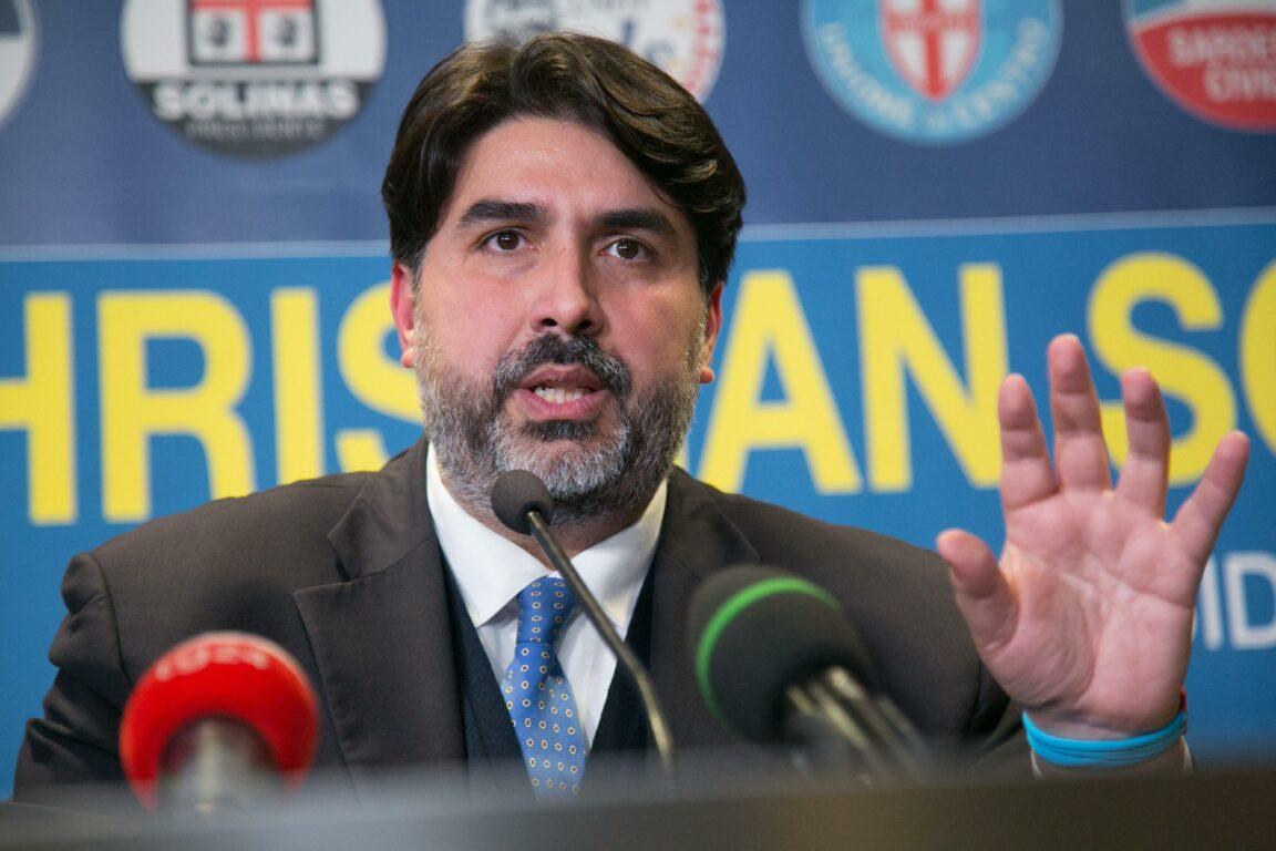 Il governatore della Sardegna Christian Solinas