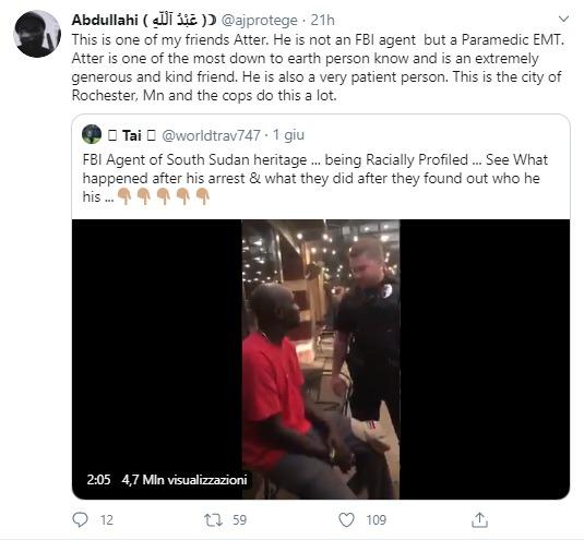 George Floyd. Agente FBI arrestato perché nero? Falso!