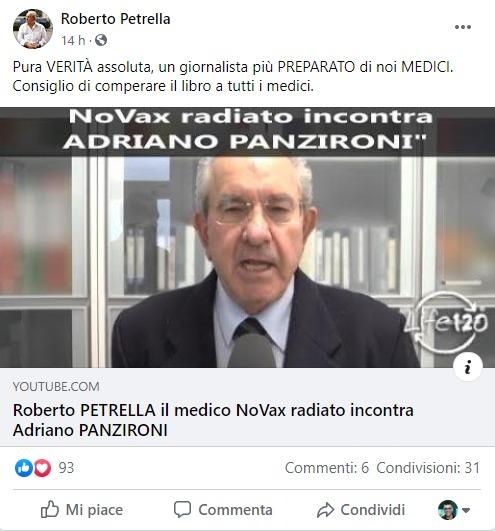 La scomposta reazione e la disinformazione del medico NoVax su Covid 19 e vaccini: «Bastardi! Assassini!»