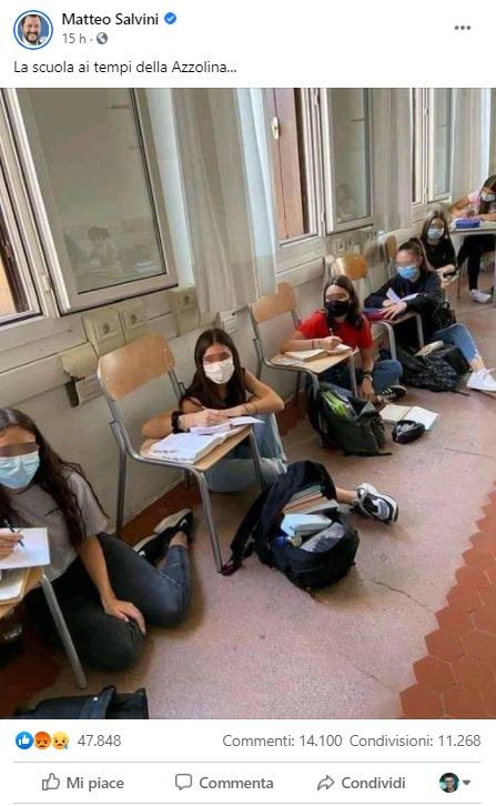 Accusano Salvini di bufala creando una bufala |  la foto delle studentesse sedute a terra non è del Brasile