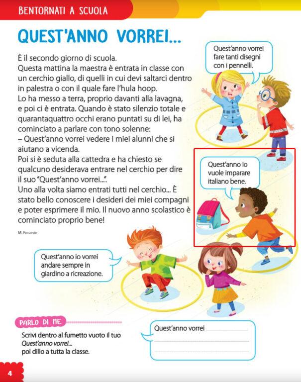 La vignetta «Io vuole imparare italiano bene» è razzista? No! Non va cancellata o modificata, ma insegnata!