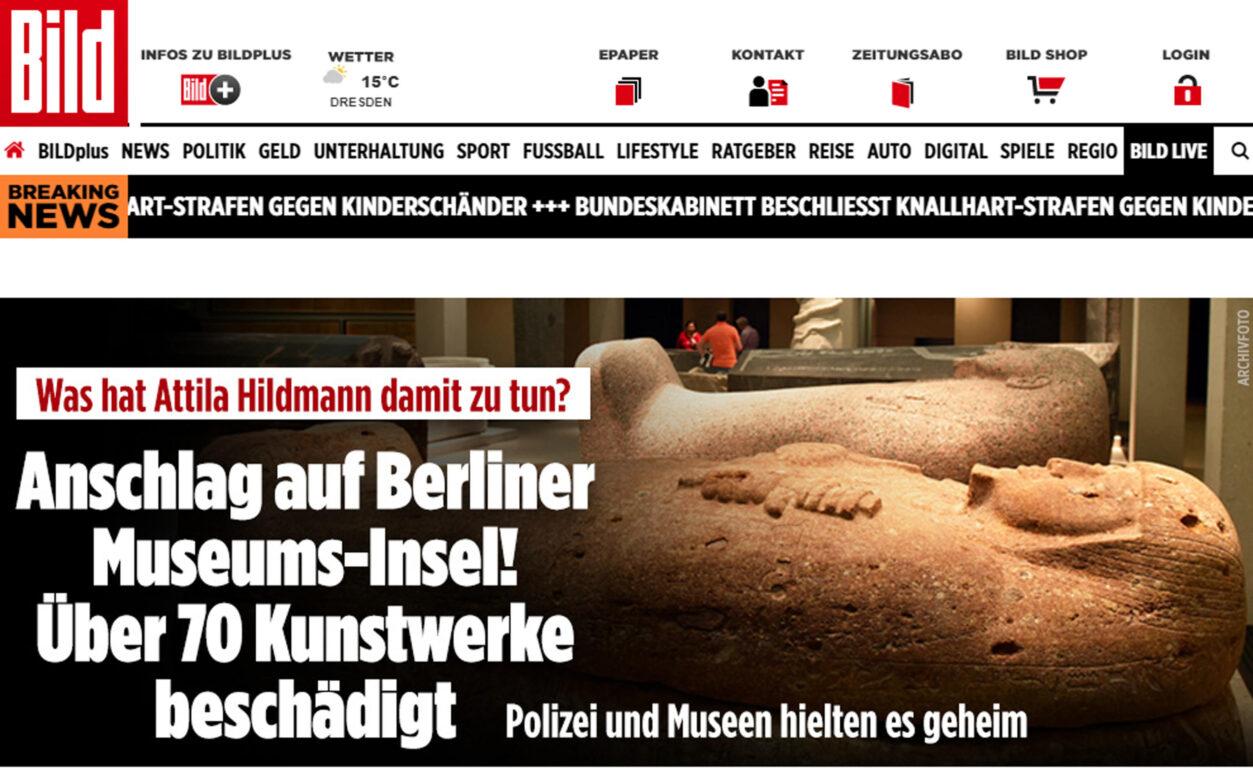 Vandalizzate le opere del museo di Berlino. Il sospetto sui QAnon c'è, ma debole e a loro «vantaggio»