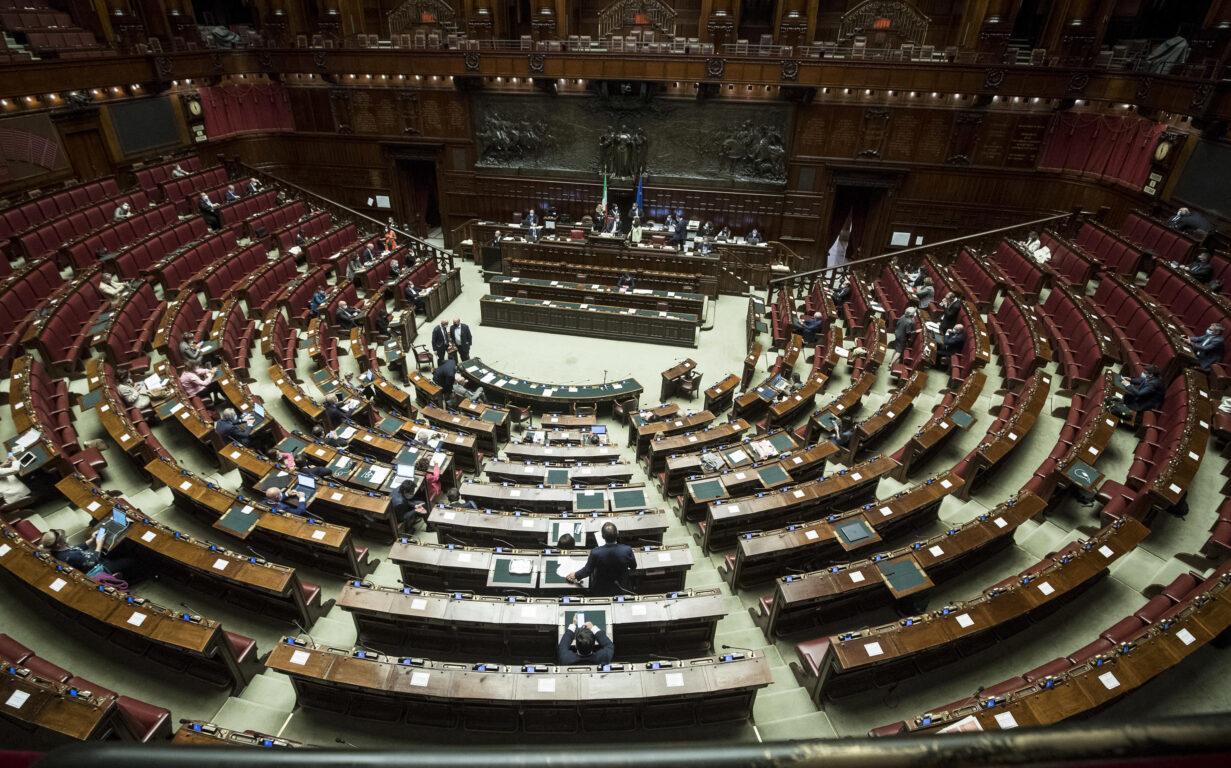 Camera deserta durante le comunicazioni sulle misure di contenimento per evitare la diffusione del Covid -19, Roma, 6 ottobre 2020