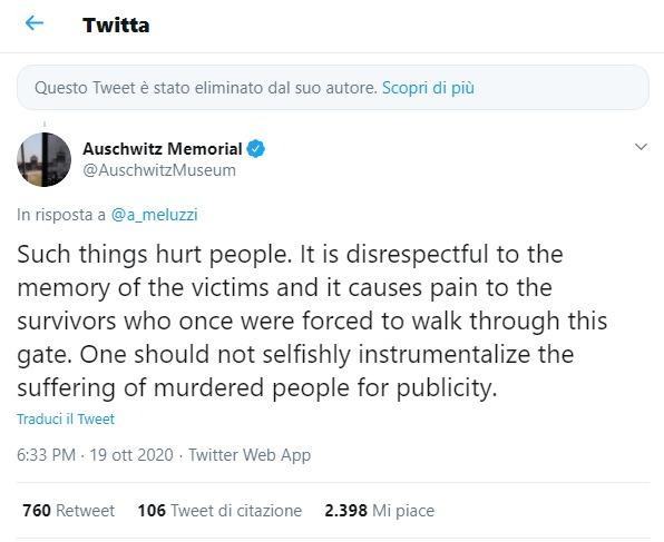 L'orribile tweet di Meluzzi con la foto di Auschwitz: «Non è creato da me». Chi è stato? Lui non risponde