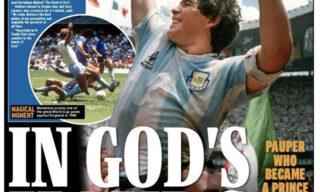 morte-maradona-prima-pagina-daily-express-sport