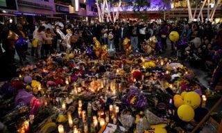 Memorial for late Los Angeles Lakers basketball player Kobe Bryant