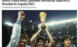 Il ricordo di Paolo Rossi del quotidiano spagnolo El Pais