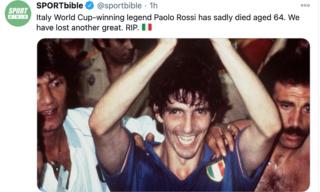 Il ricordo di Paolo Rossi su Twitter di Sportbible