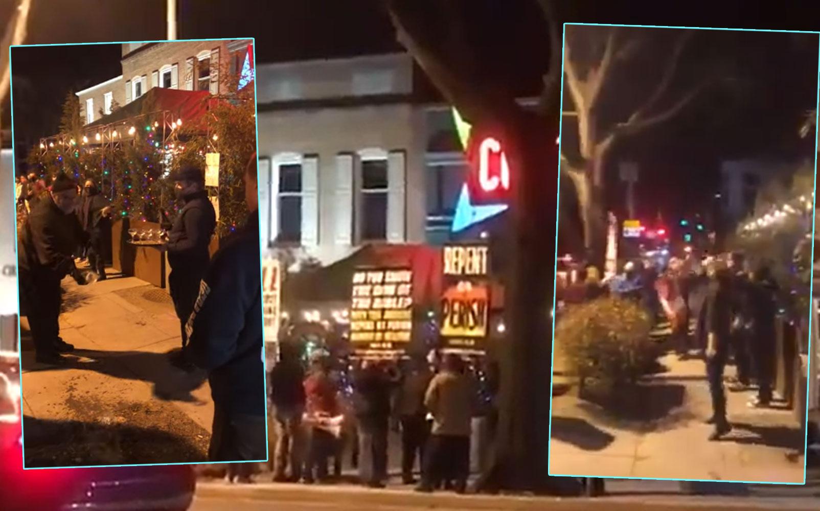 Pizzagate, complottisti manifestano davanti al Comet Ping Pong, teatro di un attentato nel 2016. Ma questa volta il proprietario reagisce